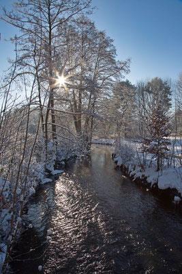 Lothar von Alm: Wintermorgen im Örtzetal