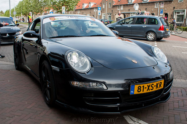 Porsche 911 Carrera 4S, zwart, 81-XS-KR, Papendrecht