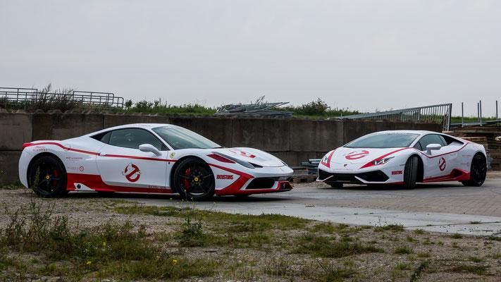 Ferrari + Lamborghini GhostBusters Team