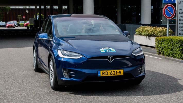 Tesla Model X, E-Rally 2019, Just Diggit, Eindhoven, Van der Valk Hotel Eindhoven, Van der Valk