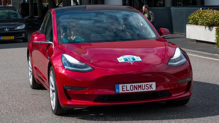 Tesla Model 3, E-Rally 2019, Just Diggit, Eindhoven, Van der Valk Hotel Eindhoven, Van der Valk