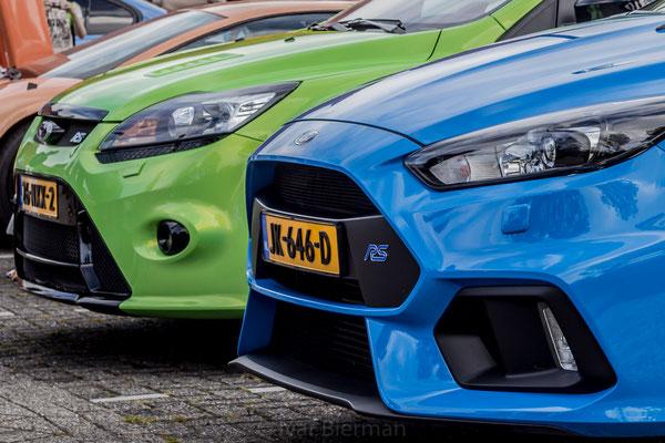Ford Focus RS blauw en groen