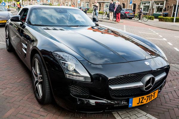 Mercedes AMG SLS, zwart, JZ-711-T, Papendrecht