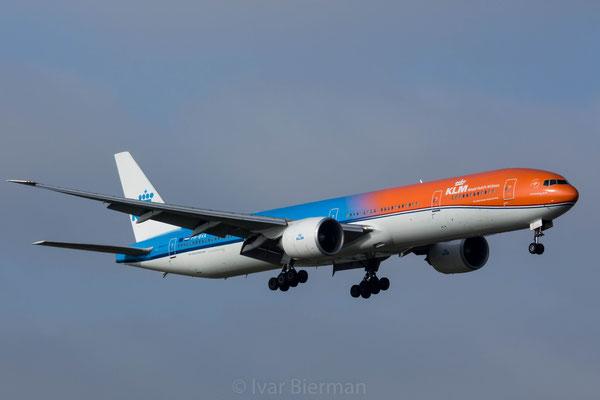 KLM Boeing 777-300 PH-BVA, Orange Pride livery