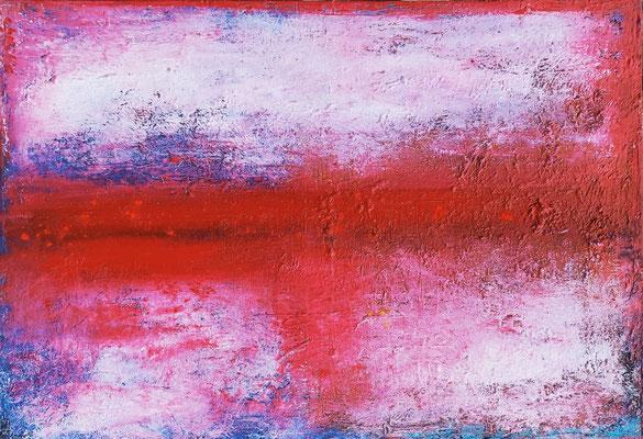 """"""" Ecorce renouvellée"""" - huile et pigments sur toile- 35 x 50 cms - Mathilde Bouvar - 2021"""