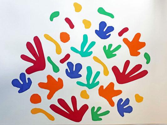 cours Matisse arts pastiques collages
