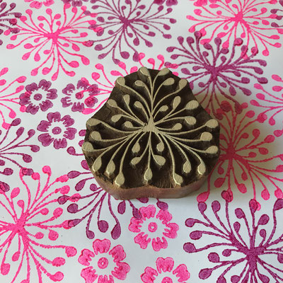 Block print wooden stamp, hand carved in India, buy Online different design. Local produced with skilled worker