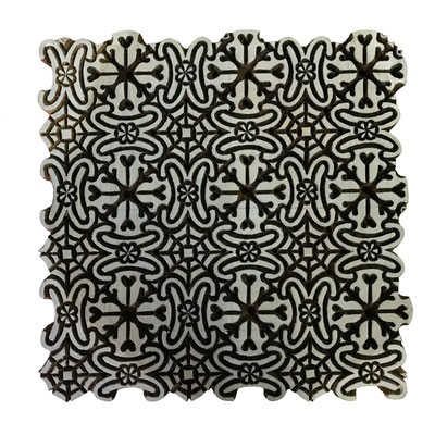 Custom made Indian Block Print Stamp manufacturer. Professional hand carved wood block for repeating pattern.