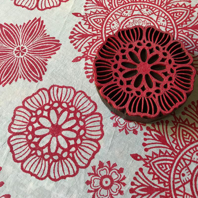 Block printing wooden  stamps for textile printing, onlinesho and shop in New Delhi India