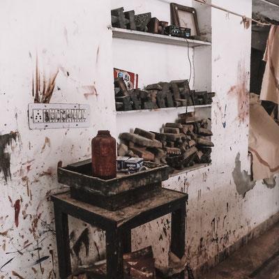 Block print studio Rajasthan