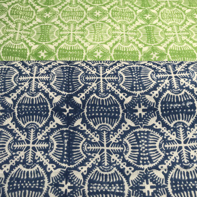 Block Print Fabrics New Delhi India. Worldwide delivery