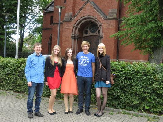 Kirchliche Trauung in Essen - 04.09.2015 (leider konnte Lia nicht dabei sein. Vielen Dank an Luisa, die eingesprungen ist)