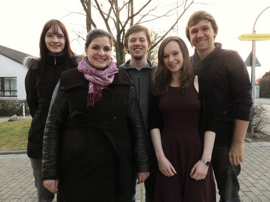 Vorbereitungen für unser Konzert am 28.03.2015 - Kreuzkirche Berghofen, Dortmund