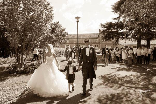 arrivée des marié à la mairie