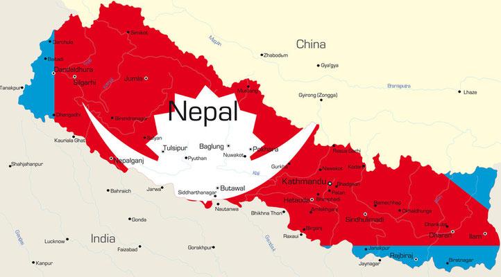 Karte von Nepal