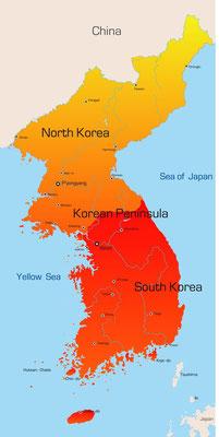 Karte von Korea
