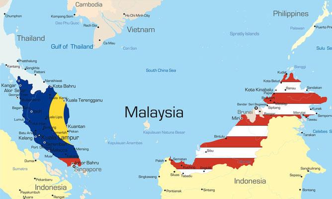Karte vn Malaysia