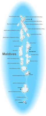 Karte von den Malediven