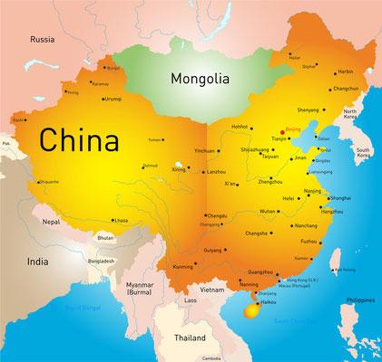 Karte von China