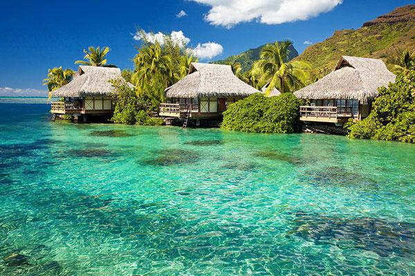Bungalows auf den Malediven