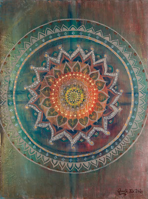 "Limitierter Leinwanddruck  ""#1 Mandala"""