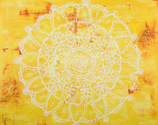 """Originalgemälde """"Sunflower""""  Acryl auf Künstlerleinwand und Keilrahmen. Format 80x100cm inkl. Schattenfugenrahmen Schwarz Goldglanz Antik"""