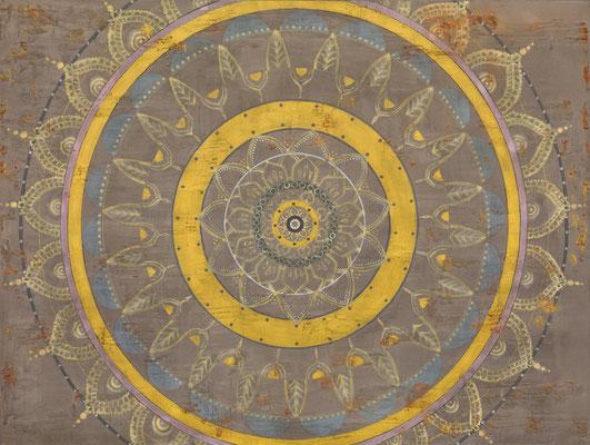 """Originalgemälde """"Embrace"""", Acryl auf Künstlerleinwand und Keilrahmen. Format 120x160cm inkl. Schattenfugenrahmen Schwarz Goldglanz"""