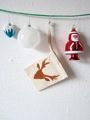 handgeschilderde tas voor de kerst / hand painted tote bag for christmas