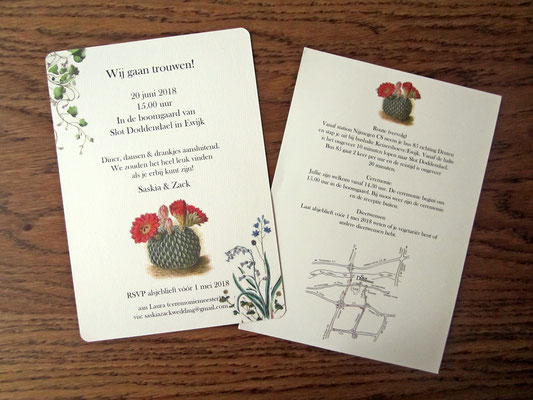S&Z - bruiloft uitnodiging en bijbehorende brief / wedding invitation and accompanying letter