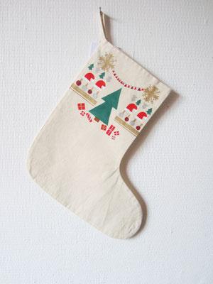 handgeschilderde kerstsok voor de kerst / hand painted stocking for christmas
