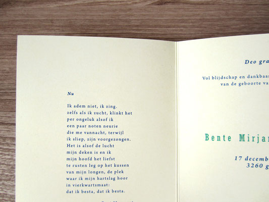 typografisch geboortjekaartje / typographical new baby card