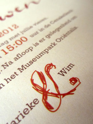 M&W - met handgetekende typografische illustraties / with handdrawn typographical illustrations