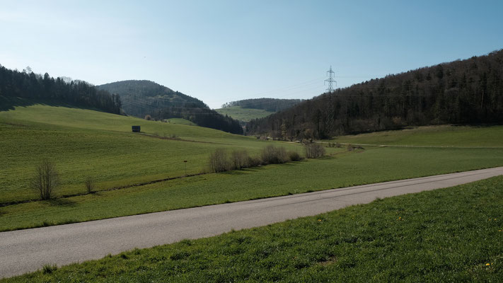 Blick zurück nach Gauset