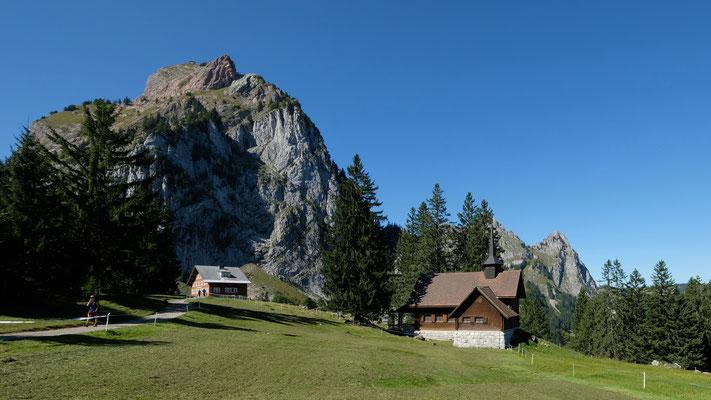 Holzegg. Restaurant und Bergstation der Brunni-Holzegg Bahn.