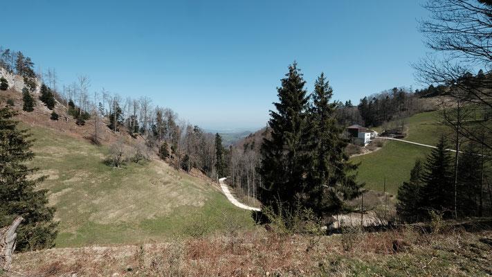 Ein Blick zurück zur Bergstation