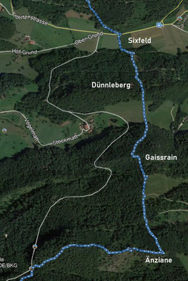 Jetzt komme ich zum anstrengensten Abschnitt. Sehr steil geht es über den Dünnleberg und den Gaissrain hinauf nach Änziane üb