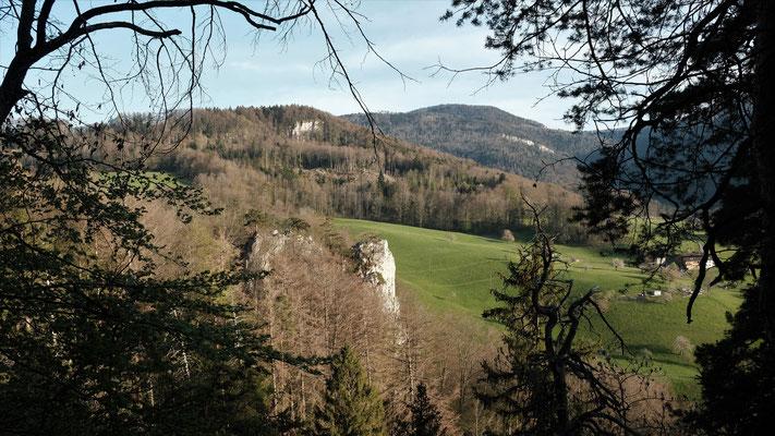 Ruine Ryfenstein, Baberten und Hintere Egg