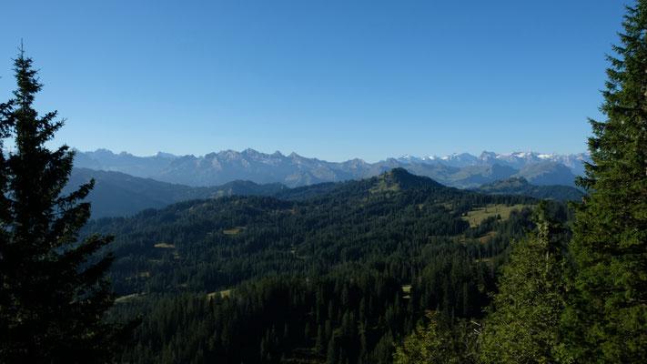 Die Urner Alpen vom Gschwändstock aus gesehen