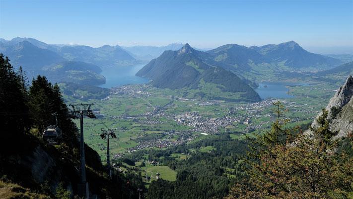 Aussicht von der Bergstation Rothenflue
