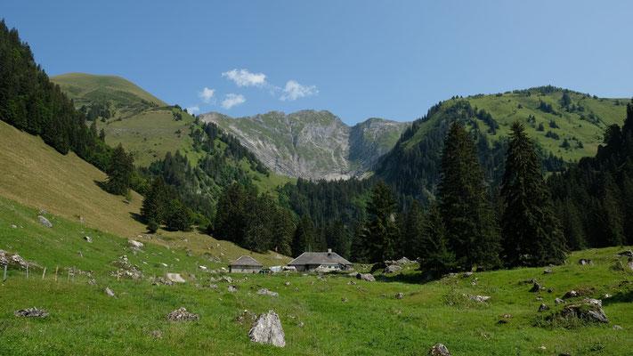 Alp les Baudes mit Vanil noir im Hintergrund