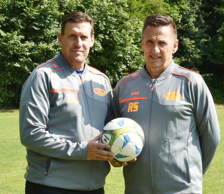 Cheftrainer Oliver Unsöld + sportl.Leiter Rudi Schiller