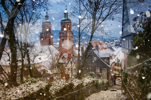 Miltenberg am Main im Winter