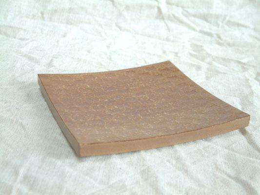 鎌倉彫角皿 市松|白の溜め塗|約15cm×15cm