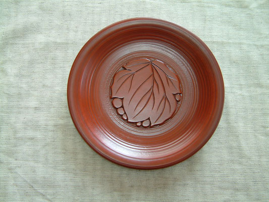 鎌倉彫菓子皿 葡萄|干口塗り(乾口塗)