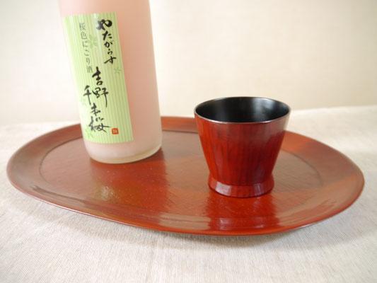 鎌倉彫 ぐい呑み はかま||鎌倉漆工房いいざさ