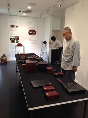 東慶寺ギャラリー 箱展 準備風景