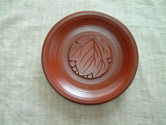用の器まめざら 挽き目皿 葡萄|鎌倉漆工房いいざさ