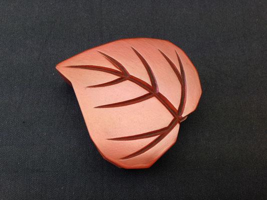桂の葉の香合