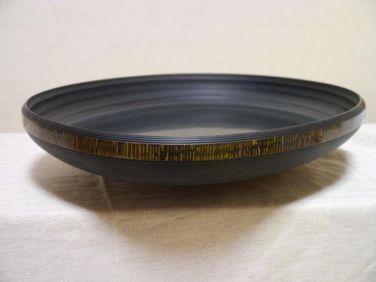 金縞の盆 約38㎝×35㎝ ¥135,000