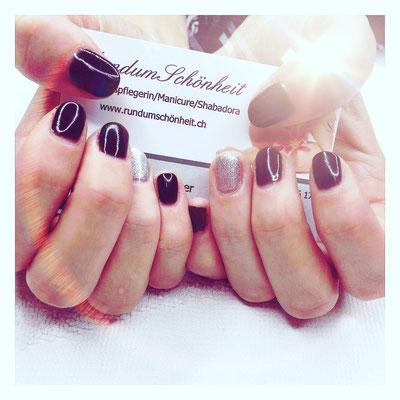 #opi#dark#braun#darkbraun#silver#nails#shellac #rundumschönheit#corinnereiser #manicure #volketswil#kindhausen#uster#winterthur#glattbrugg#greifensee#lovemyjob #seeyousoon #seeyouagain